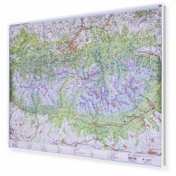 Tatry Polskie i Słowackie 154x110cm. Mapa magnetyczna.