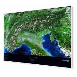 Alpy - Panorama Satelitarna 105x71cm. Mapa magnetyczna.