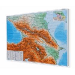 Kaukaz drogowo-fizyczna 122x84 cm. Mapa magnetyczna.