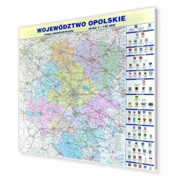 Opolskie administracyjna 110x123cm. Mapa magnetyczna.