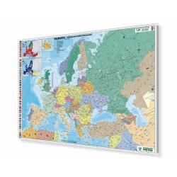 Europa polityczna 148x100 cm. Mapa magnetyczna.