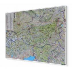 Austria i Słowenia drogowa 120x95cm. Mapa magnetyczna.