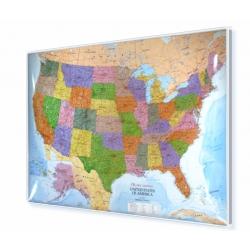 Stany Zjednoczone/USA polityczna 140x102cm. Mapa magnetyczna.