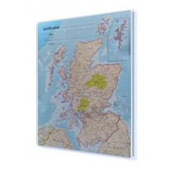 Szkocja 81x92 cm. Mapa magnetyczna.