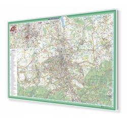 Bielsko-Biała plan miasta 103x70cm. Mapa magnetyczna.