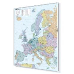 Europa polityczno-drogowa 105x130cm. Mapa magnetyczna.