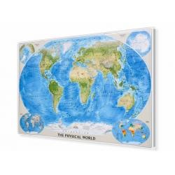 Świat Fizyczny 176x122 cm. Mapa do wpinania.