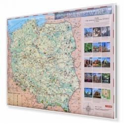 Polska Niezwykła dla dzieci 144x98cm. Mapa do wpinania.