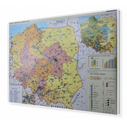 Polska - przemysł i energetyka 160x120cm. Mapa do wpinania.