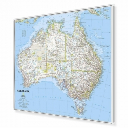 Australia 81x70cm. Mapa do wpinania.