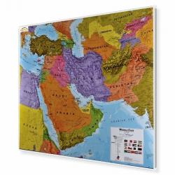 Bliski Wschód polityczna 124x100cm. Mapa do wpinania.
