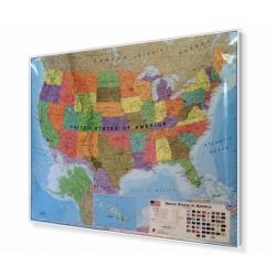 Stany Zjednoczone/USA Polityczna 126x102cm. Mapa do wpinania.