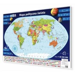 Świat Polityczny 98x70cm. Mapa do wpinania.