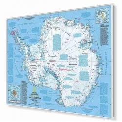 Antarktyda fizyczna 160x120cm. Mapa do wpinania.