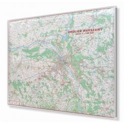 Warszawa i Okolice 124x96cm. Mapa do wpinania.