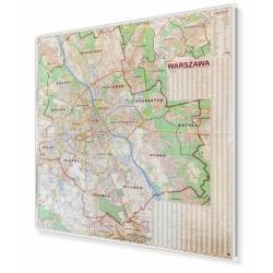 Warszawa 182x182cm. Mapa do wpinania.