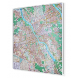 Warszawa 100x116cm. Mapa do wpinania.