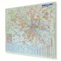 Wrocław 142x120 cm. Mapa do wpinania.
