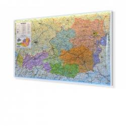 Austria administracyjno-drogowa 103x59cm. Mapa do wpinania.