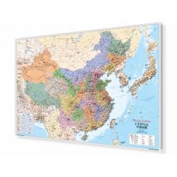 Chiny administracyjno-drogowa 134x95cm. Mapa do wpinania.