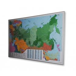 Rosja kodowa 146x98cm. Mapa do wpinania.