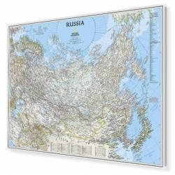 Rosja, Kazachstan, Mongolia, Afganistan, Uzbekistan, Kirgistan, Tajikistan, Turkmenistan 84x60,5cm. Mapa do wpinania.