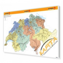 Szwajcaria Kodowa 140x90cm. Mapa do wpinania.