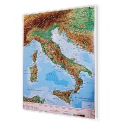 Włochy Fizyczna 120x150cm. Mapa do wpinania.