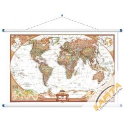 Świat Polityczny exclusive 123x78cm. Mapa ścienna.