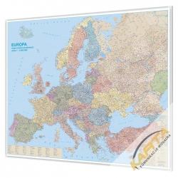 Europa Kodowa 180x150cm. Mapa w ramie aluminiowej.