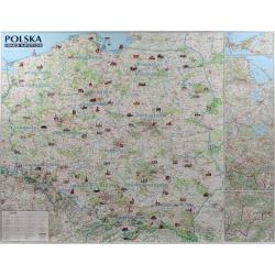 Polska atrakcje turyst. 1:685 tys Mapa ścienna 126,5x97cm ExpressMap