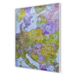 Europa środkowa kodowa 148x192cm. Mapa w ramie aluminiowej.