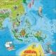 Świat Młodego Odkrywcy dla dzieci 140x100cm. Mapa magnetyczna.