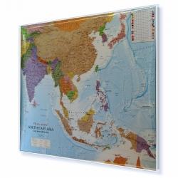Azja Południowo-Wschodnia polityczna 126x96 cm. Mapa w ramie aluminiowej.
