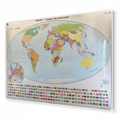 Świat konturowy do ćwiczeń 200x140cm. Mapa do wpinania.