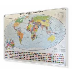 Świat Polityczny 200x140cm. Mapa magnetyczna.