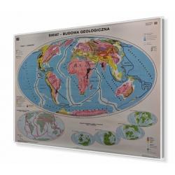 Świat Budowa geologiczna 160x120cm. Mapa w ramie aluminiowej.